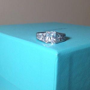 Jewelry - 💎💖💎CZ rectangle 925 ring- sz 8 💎💖💎